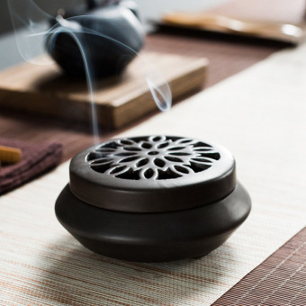Handmade ceramic incense burner beautiful for censer for coil incense