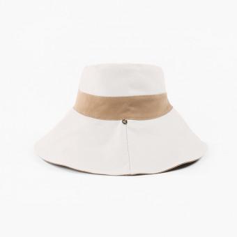 Fashion wide brim bucket hat dual colors female bucket hat