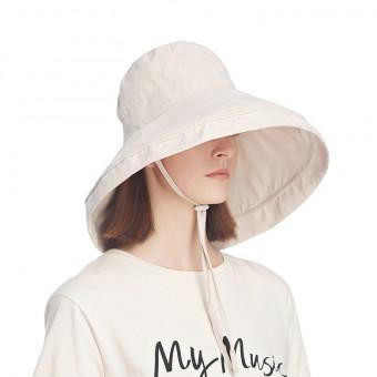 Sun protection wide brim bucket hat packable summer beach cap