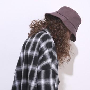 Simple style bucket hat for summer unisex trendy bucket hat