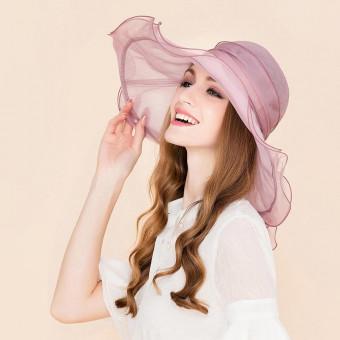 Ladies wide brim floppy hat glamourous silk floppy hat for sale