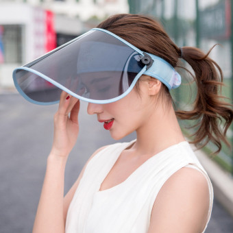 UV sun visors hat for cycling adjustable headband face shields