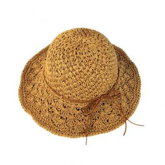 Beach straw hat wide brim straw sun hat hand-woven for women