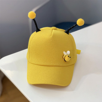 Cute bee baseball cap for kids with bee tentacles adjustable cap
