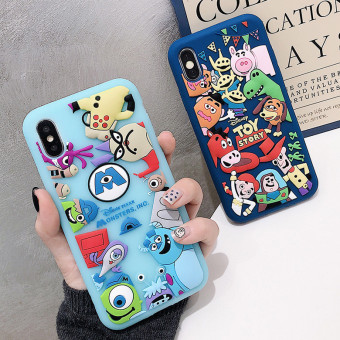 Disney iPhone Cases, Cartoon iPhone x Case, iPhone 7 Plus Silicone Case