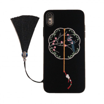 Embroidered iPhone Case, 3 Colors Embroidered Phone Case for iPhone
