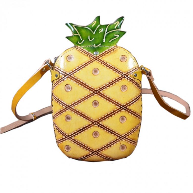 Latest Novelty Cute Pineapple Shape Shoulder Mini Bag for Women