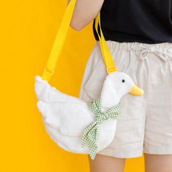 Cool soft duck crossbody bag the same style with celebrities