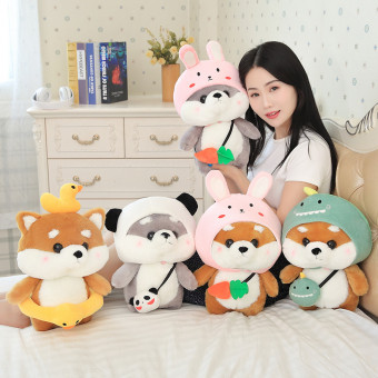 The Akita plush toy cute Shiba puppet for female birthday gifts