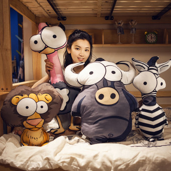Instagram cartoon animal pillow lovely sleeping pillow women
