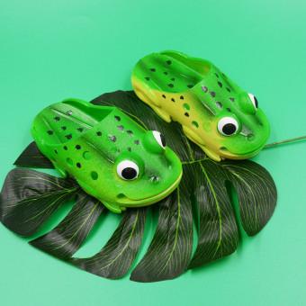 Lovely Frog Modeling Tip Binding Sandals For Children(Toe Cap Can Open)