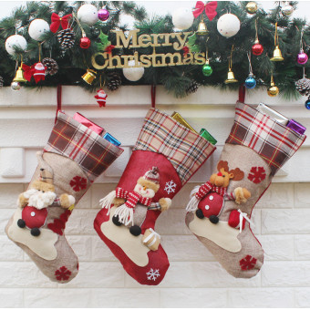 Personalized embroidered New Year Christmas decoration stockings