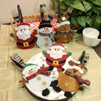 Creative Christmas holiday decoration Christmas dinnerware bags