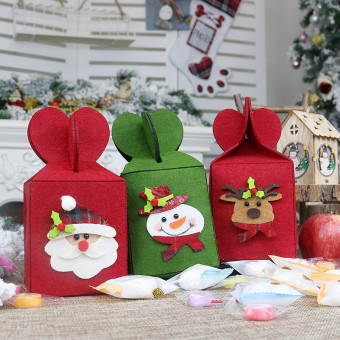 Foldable Christmas decoration gift bags Christmas Eve apple bag