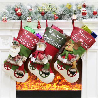 Creative cute New Year Christmas decoration stockings candy bags