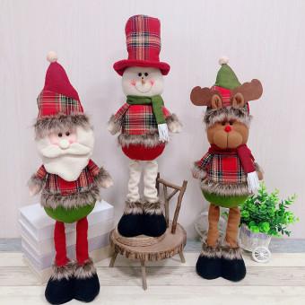 Christmas dolls telescopic snowman standing doll festival decorations
