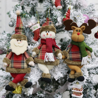 Tree ornaments doll plush hanging decorations for Christmas