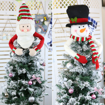 Tree ornaments doll plush hanging decorations tree cap for Christmas