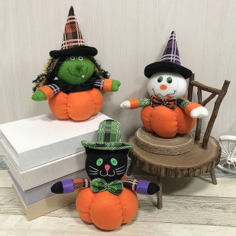 Pumpkin doll plush doll ornaments for Halloween decoration