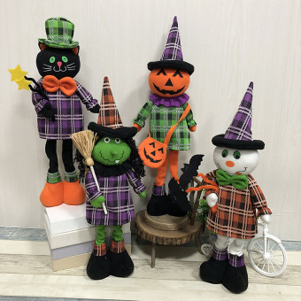 Halloween witch doll with stuff inside for decoration standing ornament