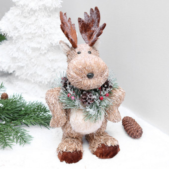 Christmas reindeer doll with stuff inside for decoration ornament