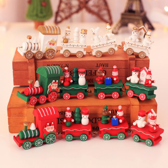 Creative woody little train for Christmas and holidays
