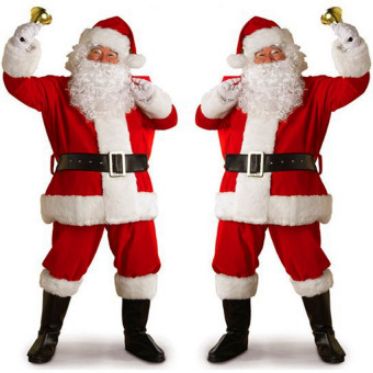 Santa Claus whole costume suit for Christmas party