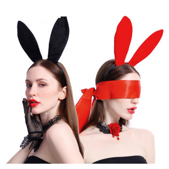 Sexy hand-made velvet rabbit ears headband for Halloween party
