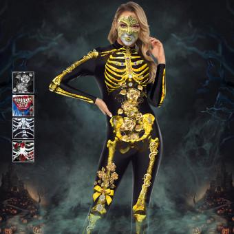 3D printing terrifying skull coverall costume for Halloween