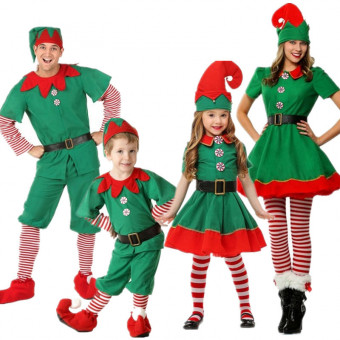 Christmas or Halloween costume children Christmas Elf costume