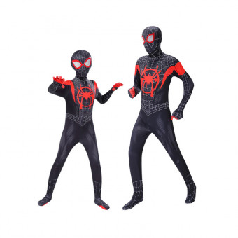 Children Spiderman costume tight jumpsuit for Halloween