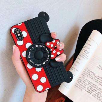 Fashion cute camera-shape Mini Mouse phone case for iPhone