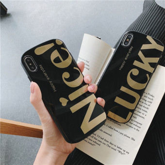 Creative and fashion letter decoration phone case for iPhone