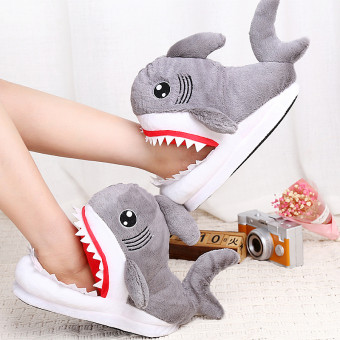 Cute soft shark cotton slipper for winter or cold weather