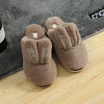 Cute soft rabbit cotton slipper for winter or cold weather