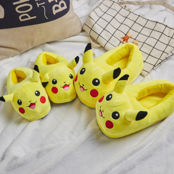 Cute soft Pokemon Pikachu cotton slipper for winter and cold weather