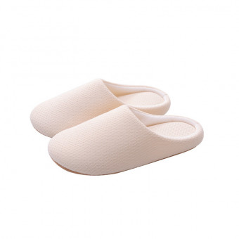 Light soft cotton slipper with exposed heel for winter and cold weather