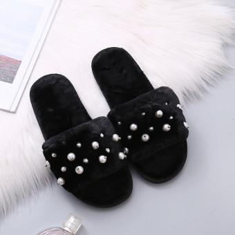 Women's memory foam mule slippers with twinkle decorations