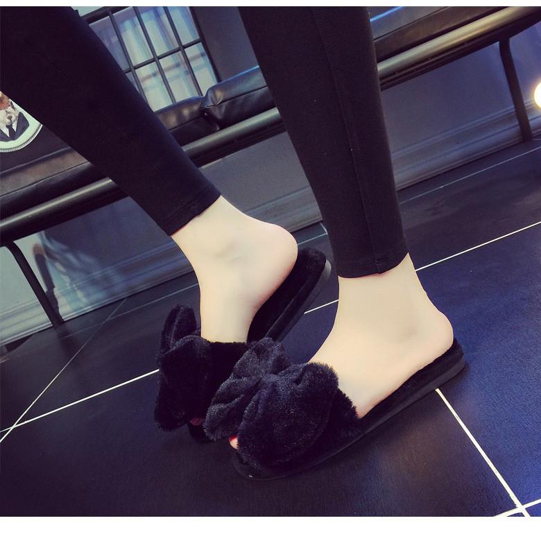 Women's memory foam mule slippers with