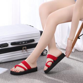 Women's casual memory foam mule slippers flip flops