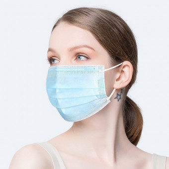 Adult disposable face masks disposable face masks with ear loops 20pcs/Box 3-Ply