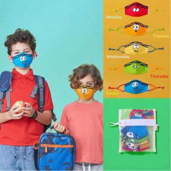 Fashion kids face masks reusable 3-ply children face coverings