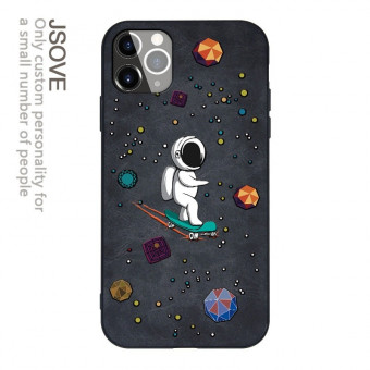 Cute astronaut iPhone case leather space planet cute iPhone cover