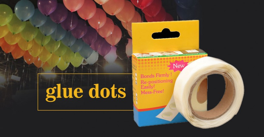 How to put balloons using glue dots EASY & DAMAGE FREE